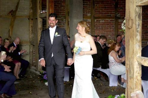 Auszug des Brautpaares in Menden