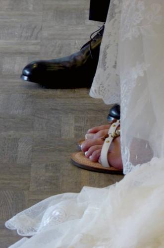 Sandalen zur vintage Hochzeit