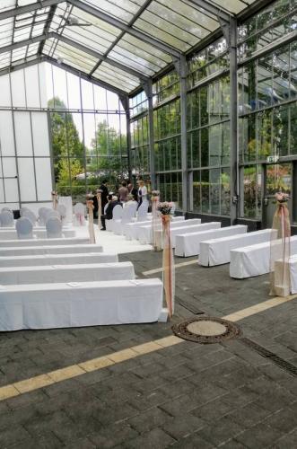 Hochzeitszeremonie im Treibhaus im Westfalenpark in Dortmund